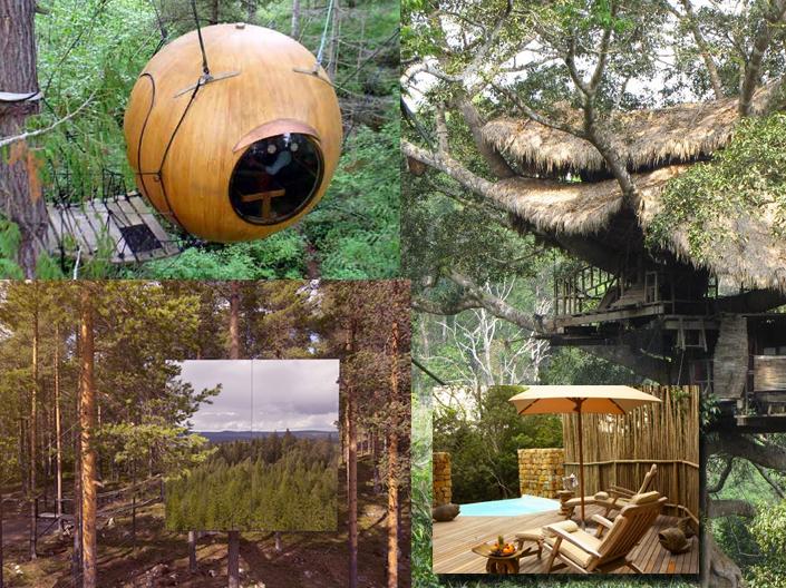 cabanes dans les arbres extraordinaires. Black Bedroom Furniture Sets. Home Design Ideas