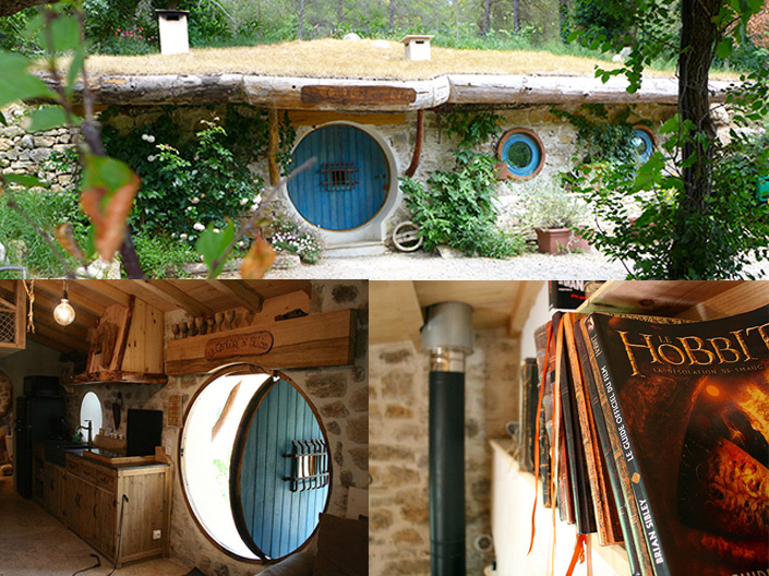 camping insolite j 39 ai visit la maison de bilbo le hobbit. Black Bedroom Furniture Sets. Home Design Ideas