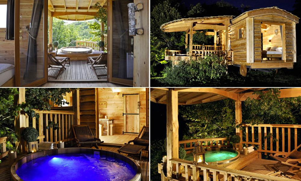 roulotte avec spa pour un week end. Black Bedroom Furniture Sets. Home Design Ideas