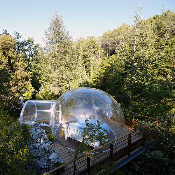 bulles dans les arbres toocamp. Black Bedroom Furniture Sets. Home Design Ideas