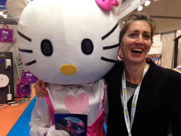 hello kitty sur le salon du camping
