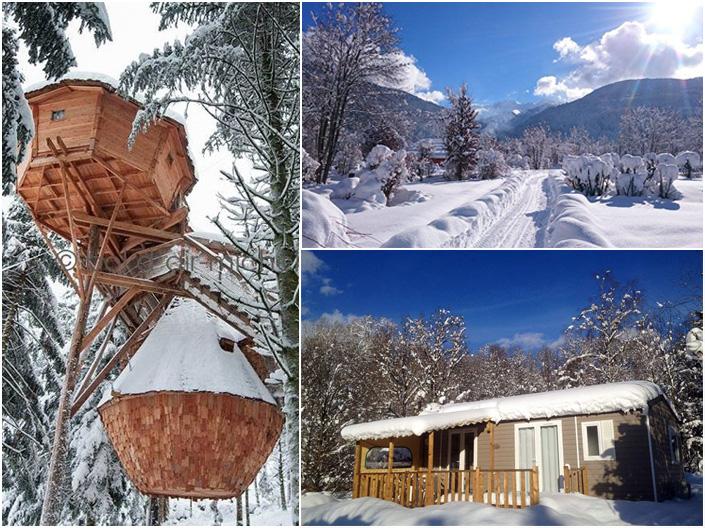 Le camping au pied des pistes de ski