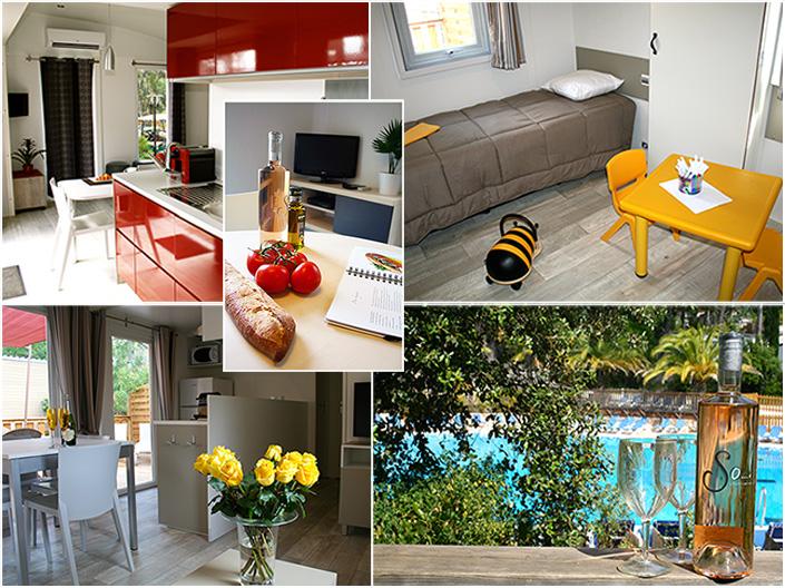 le blog du camping la d co int rieure des mobil homes de luxe. Black Bedroom Furniture Sets. Home Design Ideas