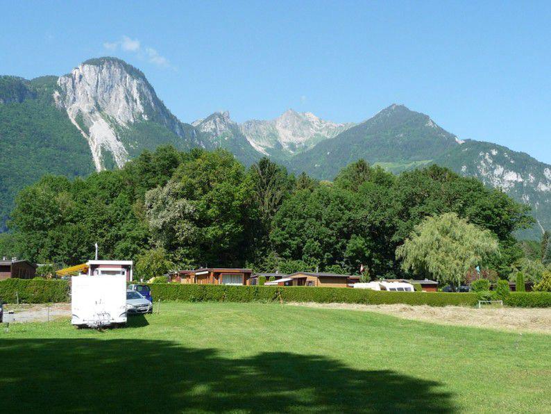 Camping au grand bois 1 toiles chessel toocamp - Camping thonon les bains avec piscine ...