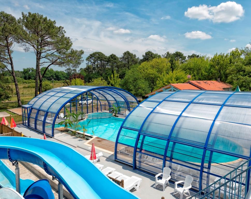 Camping avec piscine aureilhan for Piscine mimizan