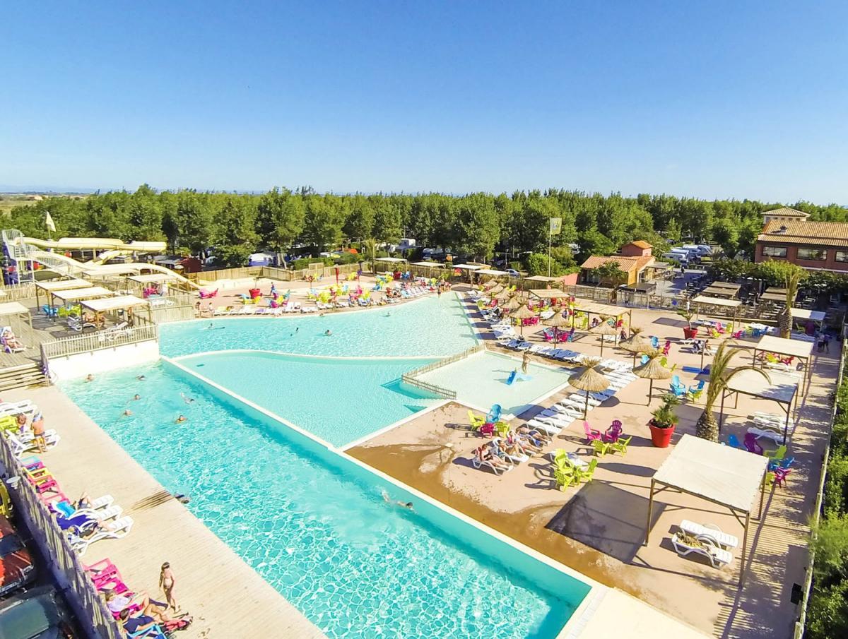 Camping - Marseillan - Languedoc-Roussillon - Les Méditerranées - Camping  Beach Garden