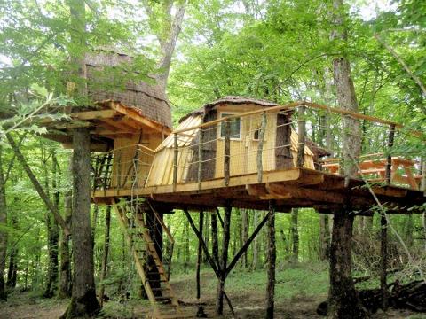 cabane dans les arbres jura h bergement insolite jura. Black Bedroom Furniture Sets. Home Design Ideas